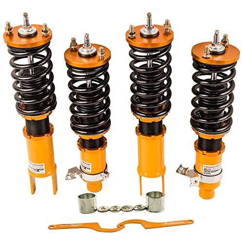 - for Honda Civic 92-95 96-00 Integra 94-01 Coilovers Suspension Coil Spring Strut Adjustable Damper Force Shock