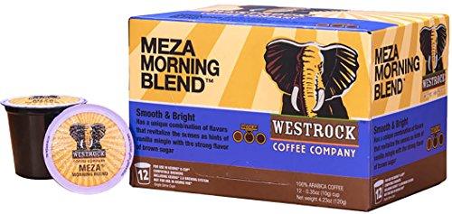Westrock Coffee Company Meza Morning Blend Best Medium Roast Gourmet Single Serve K Cups 12 Count