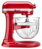 KitchenAid 6-Qt. Professional 600 with Glass Bowl (Red) For Sale