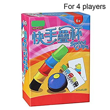 Acutty Juegos de Cartas Copas Rápidas para Jugar en Familia Juegos de Mesa para Niños, Kids