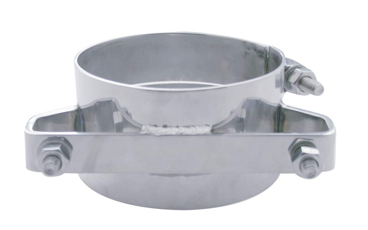 United Pacific 10331 5 inch Deluxe Stainless Steel Wide Band Exhaust Clamp
