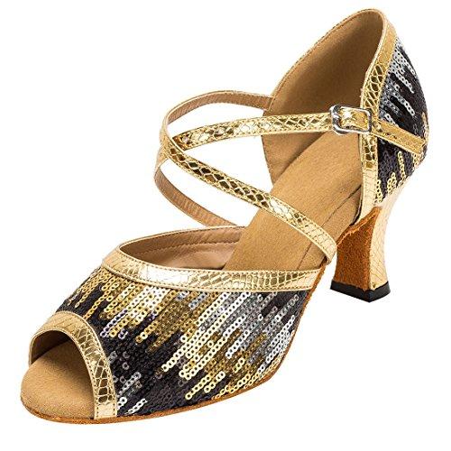 TDA - Zapatos con tacón mujer 7cm Heel Gold