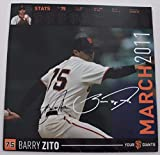 ZITO and AFFELDT AUTOGRAPHED San Francisco Giants 12x12 Calendar Page Signed 15X