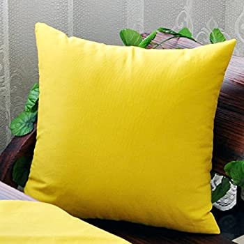 taoson home decorative 100 cotton canvas square throw pillow cover cushion case solid pillowcase with