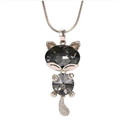 Marnis - Colgante en Forma de Gato Decorado con Cristales ...