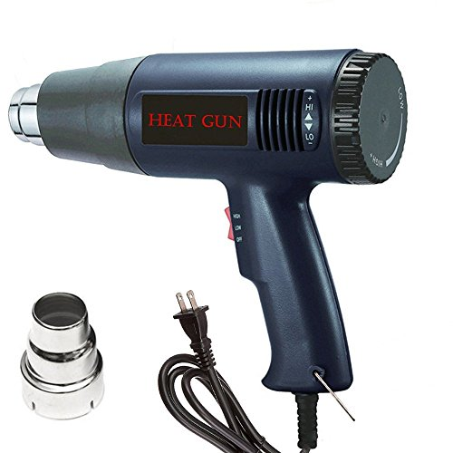 0W, Multi-Purpose Industrial Heavy Duty Professional Hot Air Gun Heating Tool Adjustable Temperature (Variable Temperature Electronic Heat Gun)