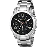 Fossil Men's FS4994 Grant Chronograph Stainless Steel Watch - Silver-Tone