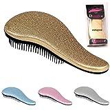 Detangling Hairbrush Comb- Glide Through All Types of Natural & Tangled Hair - Dry & Wet Hair Brush- Gold Sparkle Hair Detangler Brush - For Kids, Women, Men (Gold)