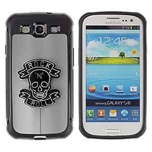 "Pulsar iFace Series Tpu silicona Carcasa Funda Case para Samsung Galaxy S3 III I9300 , Roca rodillo Muestra de neón del Café Bar Negro"""