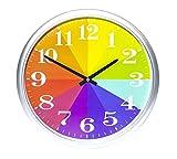 Kids Color Clock, Rainbow Clock, Color Wheel Clock, Wall Clock
