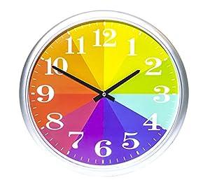 Amazon.com: Kids Color Clock, Rainbow Clock, Color Wheel Clock ...