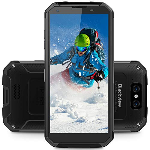 Blackview BV9500 Cell Phone Rugged, Waterproof Dropproof Dustproof 10000mAh Type - C Quick Charge Wireless Fast Charge 4+64GB Dual Camera 13MP 16/0.3MP Full Netcom 4G Phone (Black) (Mobile Phone Rugged)