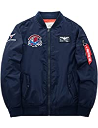 Nyngei Men Gentleman Air Force Bomber Flight Jacket Baseball Dress Classic Retro