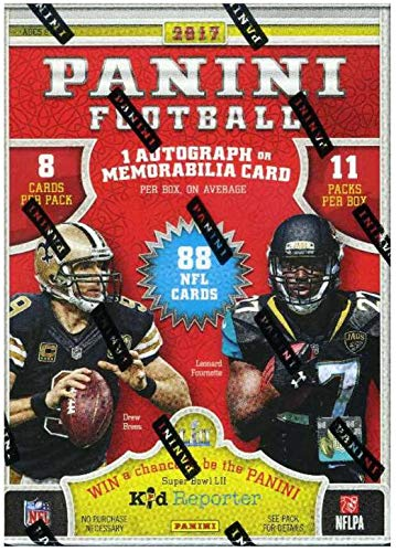 2017 Panini NFL Football EXCLUSIVE Factory Sealed Retail Box with AUTOGRAPH or MEMORABILIA Card & ROOKIE & INSERT in EVERY PACK! Look for Patrick Mahomes RC & Autos! WOWZZER!
