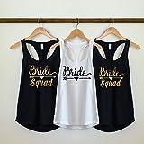 Bride Squad Bridesmaid shirts, bridal party tank top, bride squad Shirts, bridesmaids tank top, bride shirt, bridal party shirts