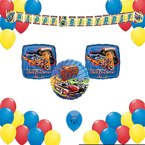 Cardboard Race Car Costume (Hot Wheels Birthday Party Supplies Decorations 34 Balloon Count Decorating Set)