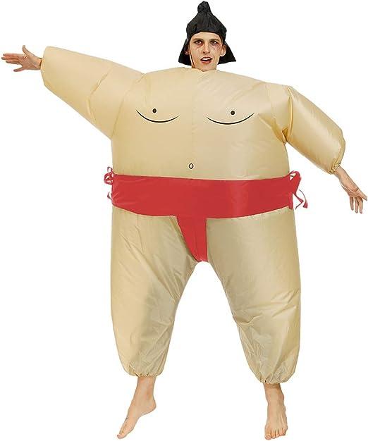 CYGJX Disfraz de Sumo Inflable para Adultos y niños, Disfraz ...