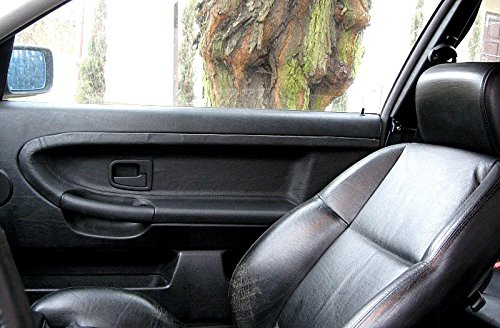 Amazon.com: RedlineGoods door insert covers - front compatible with BMW 3-series E36 1990-98. Sierra leather-Black thread: Automotive