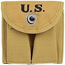 WW2 U.S. M1 Carbine Bullet Magazine Pouch WWII Ammo Ammunition Cartridge Pouches for Buttstock Stock Pistol Waist Belt