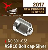 Action Army B01-028 VSR10 Bolt End Cap (Sliver) for Tokyo Marui VSR10 /Well MB02/Well MB03 (Taiwan)