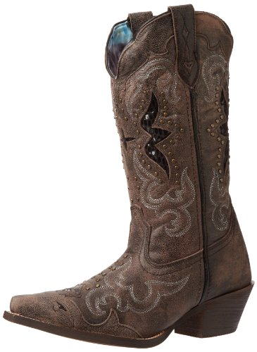 Laredo Women's Lucretia Western Boot,Black/Tan,9 M US