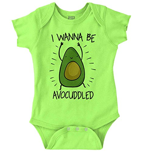 Food Onesie (Brisco Brands Avocado Funny Shirt Cute Newborn Baby Clothes Idea Romper Bodysuit)