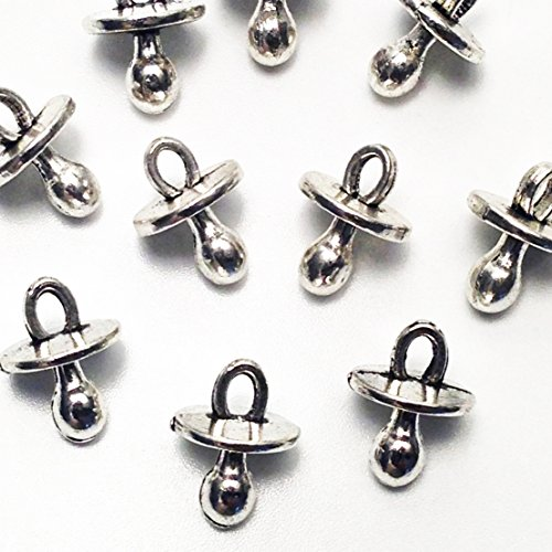 20 pcs Pacifier Tibetan Silver Plated Baby Charms Pendants for Jewelry Making DIY Handmade 13x9mm (NS595)