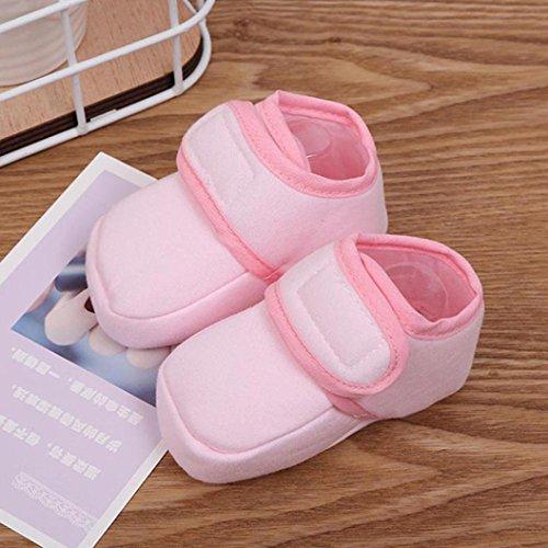 Paar Krippe Jungen Soft Kleinkind bis Baby 1 Igemy Sneaker Schuhe Mädchen Neugeborenen Monate 6 Rosa Sohle 5Iqxw8REYE
