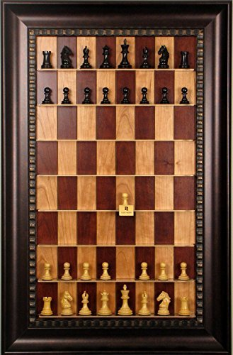 (Derby Chess pieces included on Red Cherry Straight Up Chess Vertical Chess board)