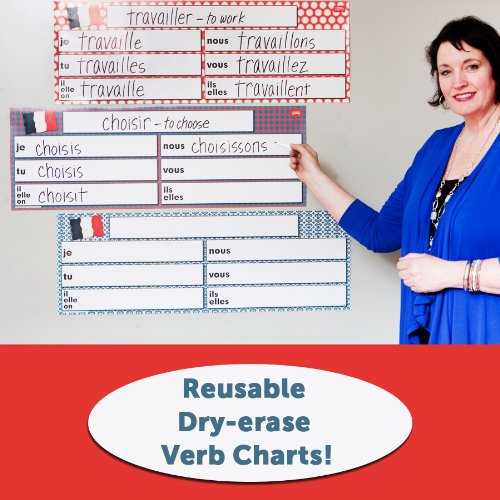 Dry-Erase French Verb Charts Set of 3