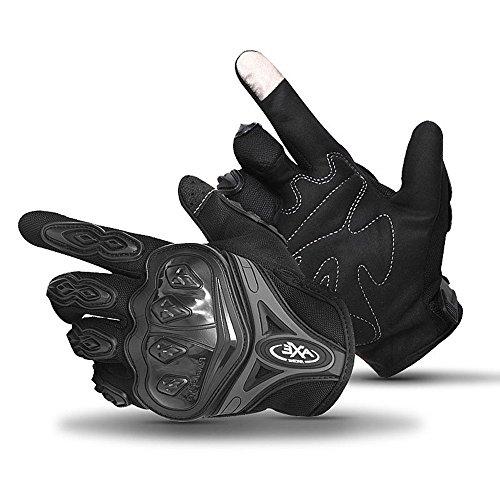 Top Specialized Mountain Bike BMX Downhill Full Finger Touchscreen Glove Female Male Motorcycle Motocross Climbing Outdoor Adventure Bicycling Ski Skating Fishing Dirt Bike Glove (Black, XL)