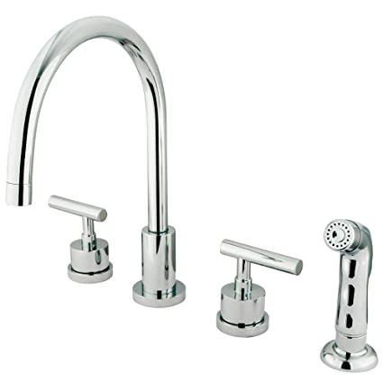 Kingston Brass Ks8721cml Manhattan Widespread Kitchen Faucet With