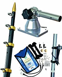 Taco Metals Grand Slam Outrigger Kit 170 Series Mounts, Blackgold Poles, 15 X 1 18-inch