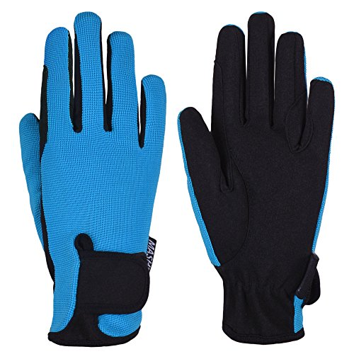 Kids Horse Riding Gloves Children Equestrian Gloves Boys & Girls Pony Riding Gloves Youth Riding Outdoor Mitts (Blue, Age 8-10 Years)