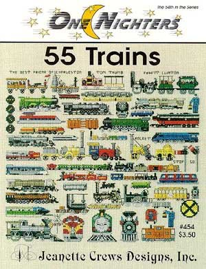 (55 Trains - Cross Stitch Pattern)