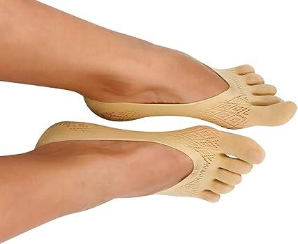 Womens Toe Five Fingers Athletic No Show Premium Lace Socks N3