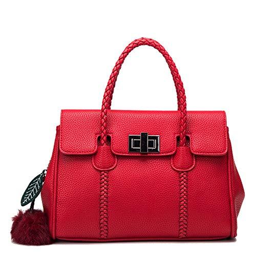 MIAOMIAOWANG Borsa a tracolla da donna (Colore : Viola) Rosso