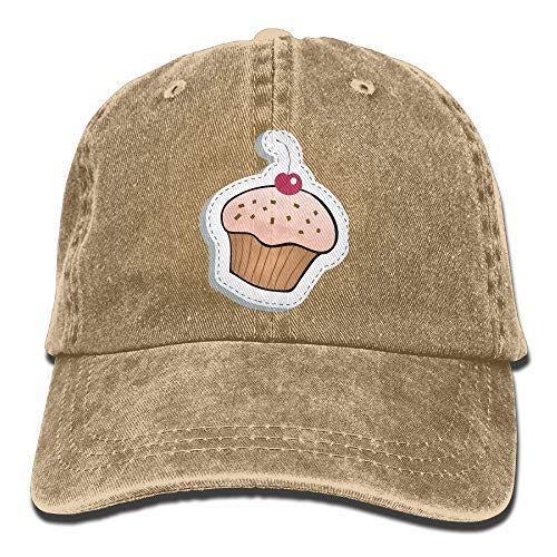RS-pthrAA!!! Unisex Cowboy Baseball Caps Sweet Cartoon Cupcake Pattern Adjustable Washed Sport Denim Cap