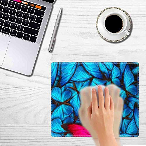 Mouse Pad Rectangle Mouse Pad Butterfly Wallpaper Fashion 300mm250mm3mm ()