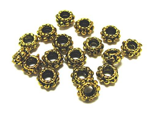 Linpeng 1977-77 Antique Gold Spacer Beads, 5 mm
