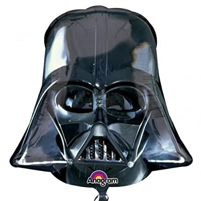 Star Wars New Black Darth Vader Helmet Supershape Foil Balloon: Toys & Games