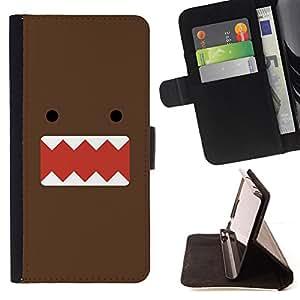 Jordan Colourful Shop - monster chocolate cartoon character cute For Apple Iphone 6 PLUS 5.5 - Leather Case Absorci???¡¯???€????€??????&aci