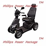 """Merits - Silverado Extreme - 4-Wheel Full Suspension Electric Scooter - 20""""W x 18""""D - Black - PHILLIPS POWER PACKAGE TM - TO $500 VALUE"""