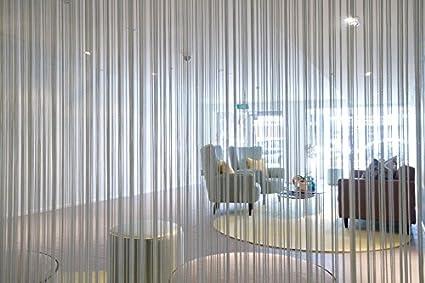 Peachy Buy Pindia 1Pc Beautiful 8Ft Grey Color Thread Curtain Interior Design Ideas Tzicisoteloinfo