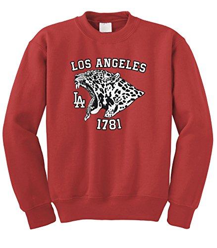 - Cybertela Los Angeles LA Jaguar 1781, Animal Crewneck Sweatshirt (Red, Large)
