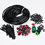 lychee Irrigation Watering System 82ft DIY Micro Irrigation Drip System-Tubing Watering Drip Kit, Irrigation Spray for Patio Garden Flower Plants