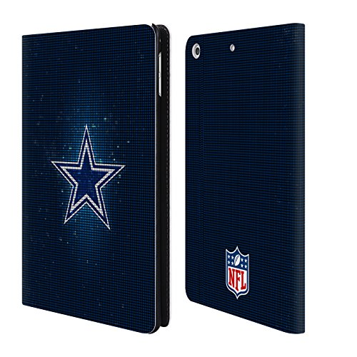 Official NFL LED 2017/18 Dallas Cowboys Logo Leather Book Wallet Case Cover for iPad Mini 4 ()