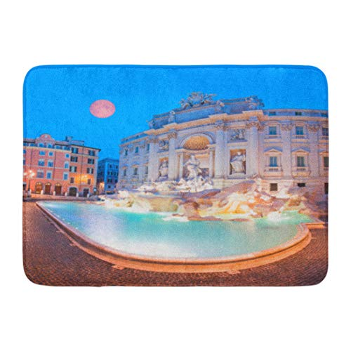 Emvency Bath Mat Artistic Ancient Trevi Fountain Fontana Di in Rome Italy of This Furnished by NASA Architecture Baroque Bathroom Decor Rug 16