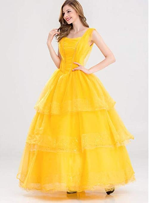 HUIHONG Señoras Película Cosplay Vestido Belleza Y Bestia Princesa ...