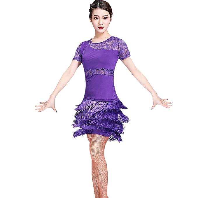 KINLOU Mujeres Vestido Vestido de Baile de Encaje Sexy ...